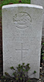 Maurice Priest at St. Sever Cemetery, Rouen