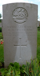 Ernest Spicer at Peronne Road Cemetery, Maricourt