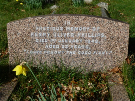 Henry Phillips at Bearwood (St.Catherine's) Churchyard