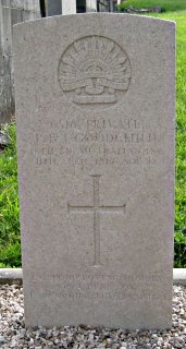 Joseph Goodchild at Sauchy-Lestree Communal Cemetery
