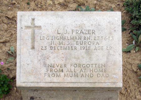 Leonard Frazer at the Lancashire Landing Cemetery, Gallipoli
