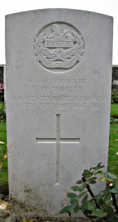 Thomas White at Tyne Cot Cemetery, Ypres
