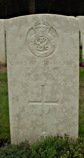 Walter Webb at Etaples Military Cemetery, Pas de Calais