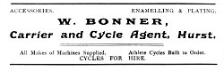 W. Bonner, Carrier and Cycle Agent