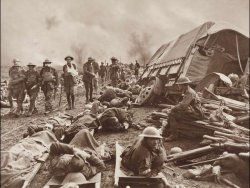 The Battle of the Menin Road, photograph by war photographer Frank Hurley